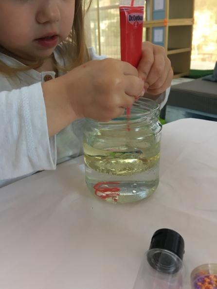 Experimento con líquidos paso 3