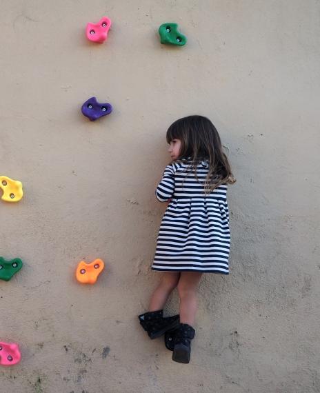 Rapunzel escalando